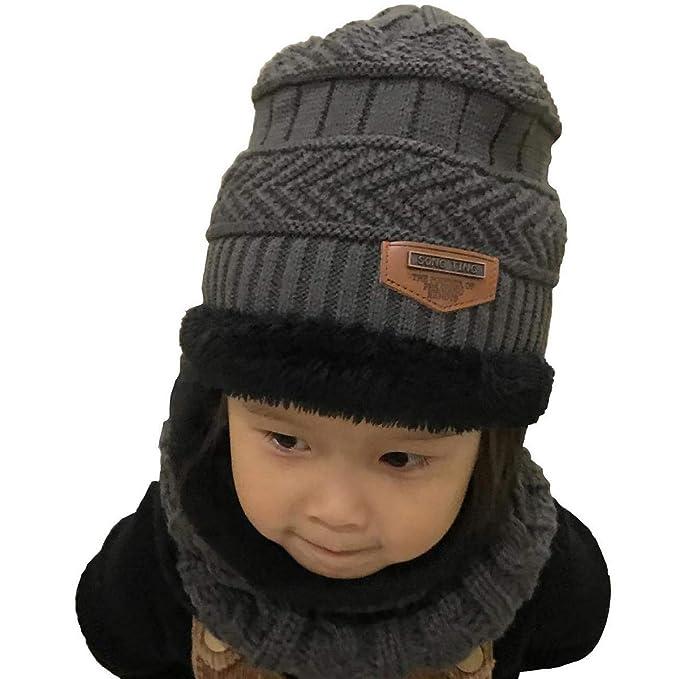 UMIPUBO Sciarpa e Beanie Bambini Unisex in Maglia Beanie Inverno Caldo  Fodera Cappellino Invernale Cappelli (grigio)  Amazon.it  Abbigliamento 98846024f3a8