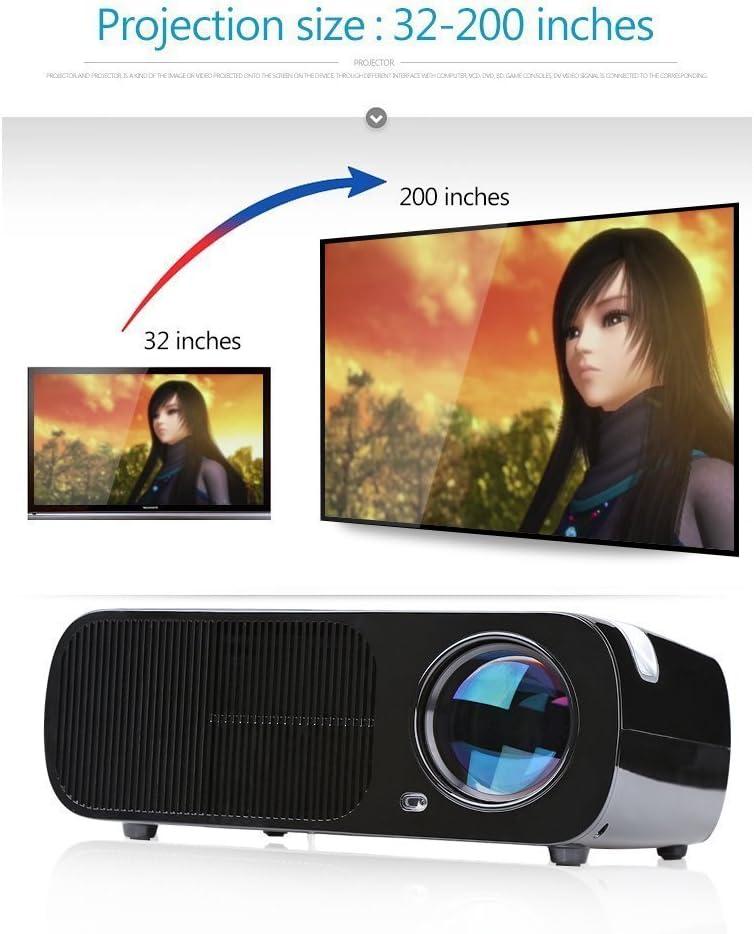 Proyector, Crenova XPE600 Proyector LED Portátil HD Foco ajustable ...