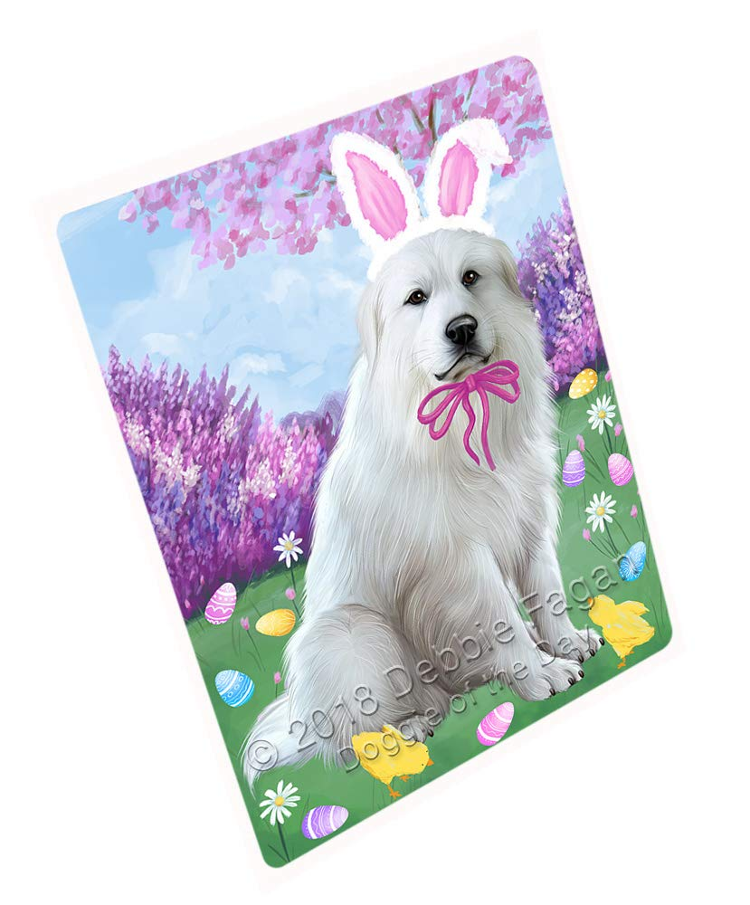 Doggie of the Day Easter Holiday Great Pyrenee Dog Blanket BLNKT131817 (60x80 Woven)
