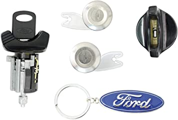 Amazon Com Ford 1992 95 F150 F250 Pick Up Ignition Door Lock Cylinders With 2 Keys Chrome Automotive