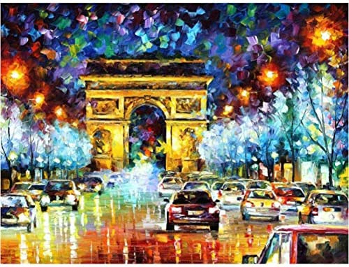 風景抽象DIYデジタル絵画によるデジタル現代壁アートキャンバス絵画ユニークなギフトホームデコレーション40x50cm