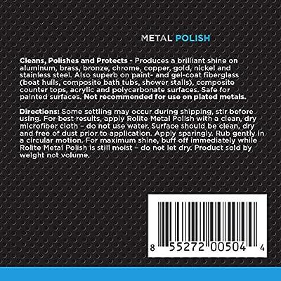 Rolite Metal Polish Paste for Aluminum, Brass, Bronze, Chrome