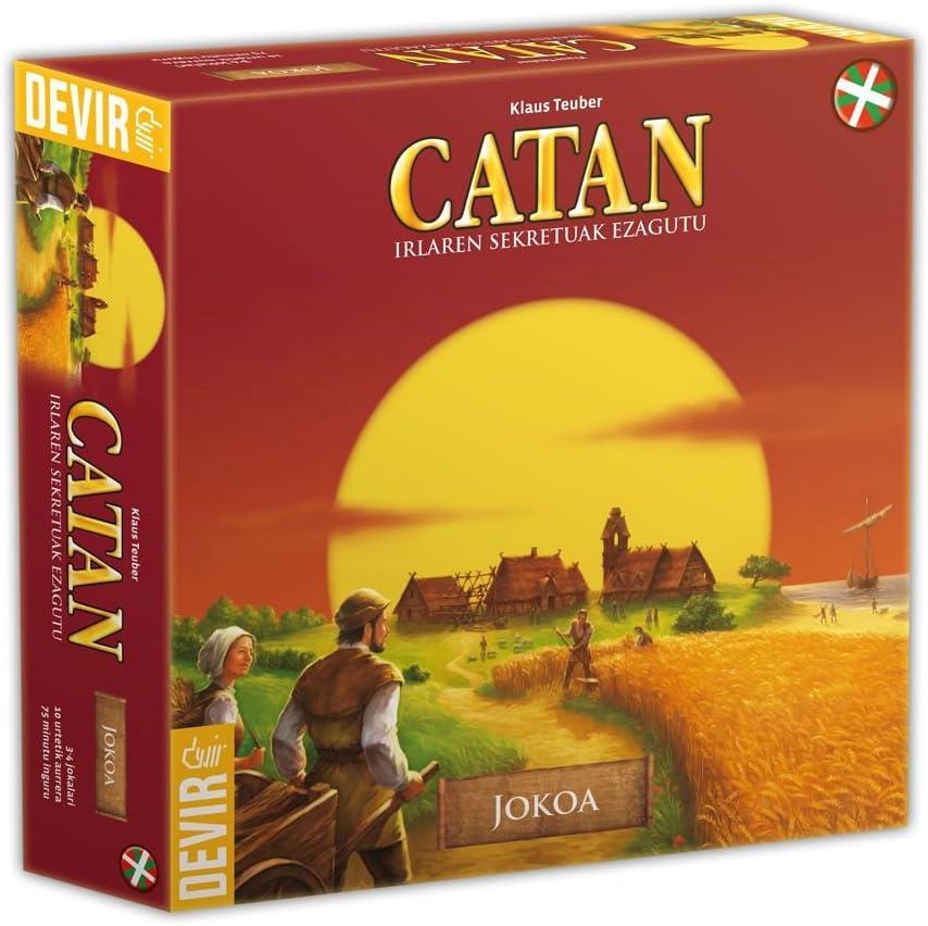 Devir - Catan, juego de mesa (BGCATEUSK) - Idioma euskera: Amazon ...