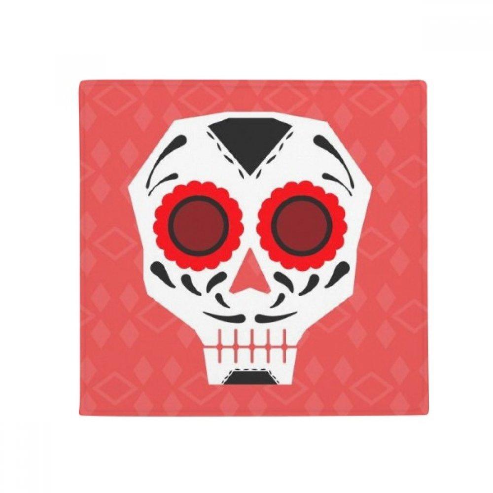 DIYthinker Red Eyes Skull Mexico National Culture Illustration Anti-Slip Floor Pet Mat Square Home Kitchen Door 80Cm Gift