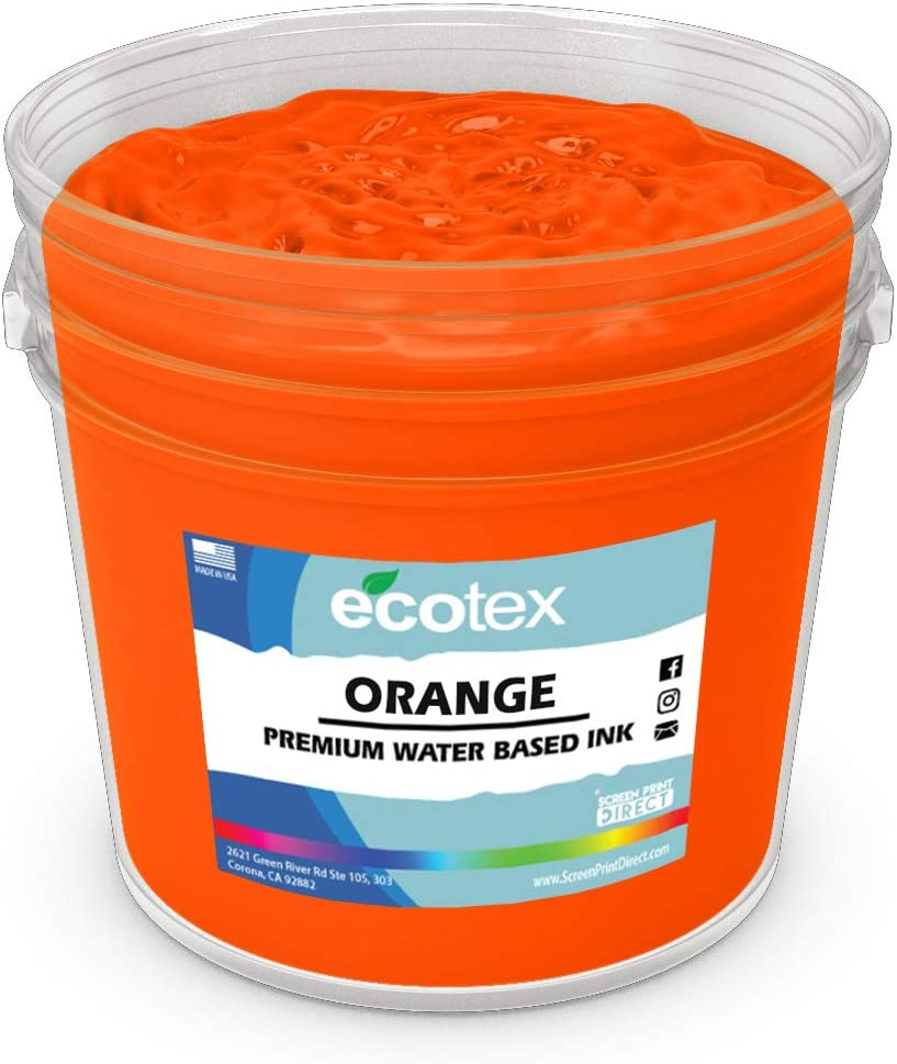 Non Phthalate Formula for Fabric//Textiles Quart-32 oz. Ecotex Orange Water Based Discharge Ink for Screen Printing