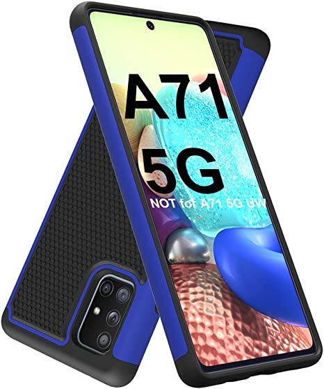 Amazon Com Dahkoiz Samsung Galaxy A71 5g Case Sturdy Durable Armor Defender Cover Samsung A71 5g Case Dual Layer Hybrid Protective Phone Cases For Samsung Galaxy A71 5g A715 Blue