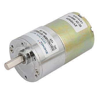 sourcing map DC Motor reductor Caja DC 12V de mm Dia diámetro del eje 30 rpm redondo engranaje reductor de velocidad del Motor eléctrico: Amazon.es: Coche y ...