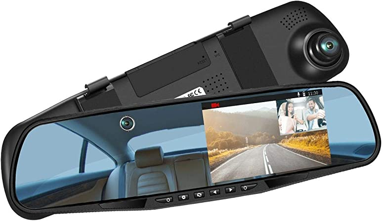 LUU Dual Dash Cam for Taxi Driver Infrared Night Vision Dual Front and Inside Dash Camera
