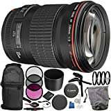 Canon EF 135mm f/2L USM Lens 14PC Accessory Bundle – Includes 3 Piece Filter Kit (UV + CPL + FLD + 4PC Macro Filter Set (+1,+2,+4,+10) + MORE
