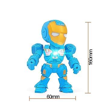 FCYY Mini Iron Man Robot LED Luz Inalámbrico Bluetooth ...
