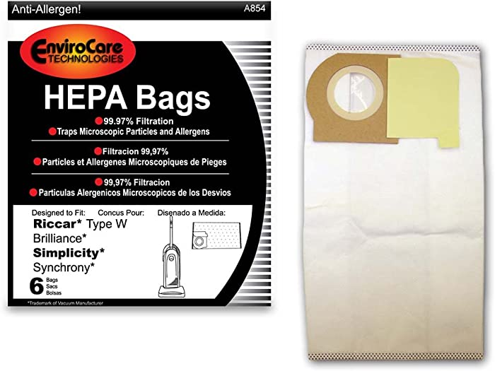 Top 6 Simplicity Vacuum Bag Type W