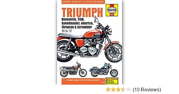 amazon com haynes triumph bonneville t100 speedmaster america rh amazon com Chilton Repair Manuals PDF 28730 Chilton Repair Manuals PDF