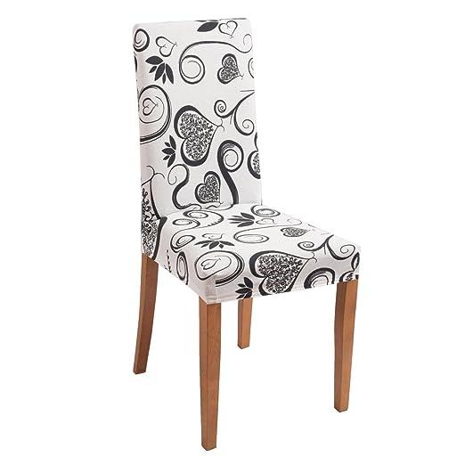91 opinioni per Joker Coprisedia vesti sedia millerighe elasticizzato 2 pezzi linea Cuori L671