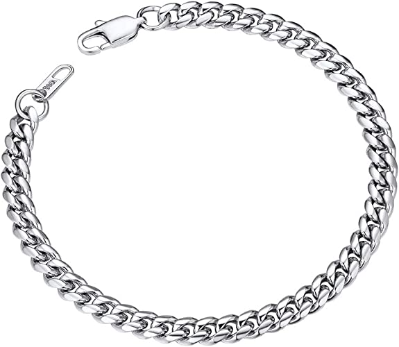 Mens Bracelets Stainless Steel Curb Chain 6mm 19cm With Lobster Claw Amazon Ca Jewelry