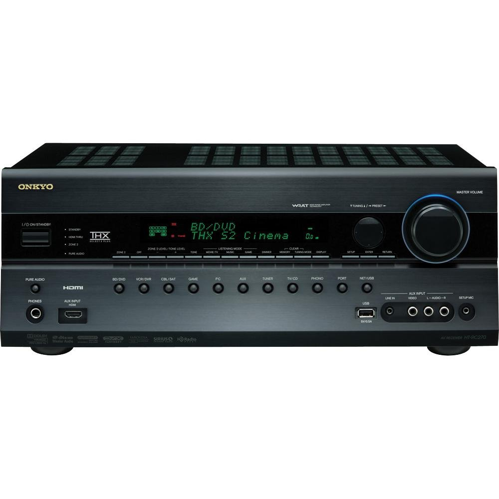 Amazon.com: Onkyo HT-RC270 7.2-Channel Network A/V Receiver (Black)  (Discontinued by Manufacturer): Home Audio & Theater