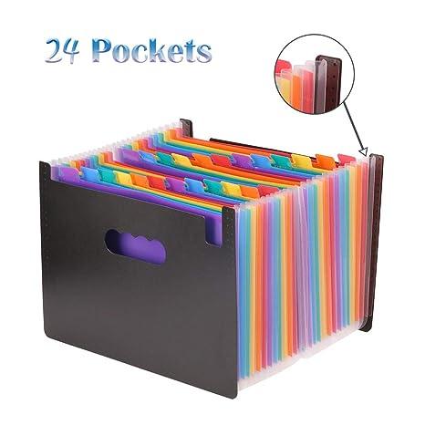 YaYuu Carpeta archivadora expandible portátil A4 bolsa de almacenamiento hogar oficina documentos acordeón archivador bolsa de