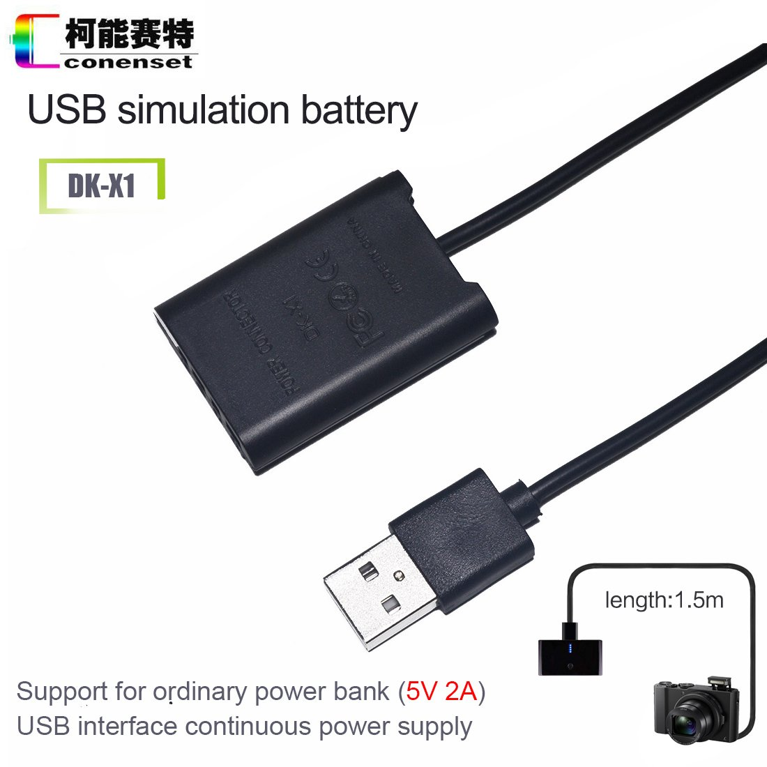 Np Bx1 Dummy Battery Dk X1 Dc Coupler Plus A Usb Cable Power Injector For External Hard Drivesusb Sony Cybershot Rx100 M2 M3 M4 Rx1 Rx1r Ii Iii Iv Digital Cameras Camera