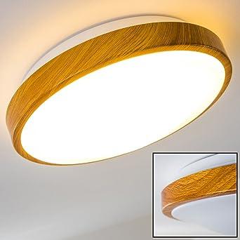Superior Bad Deckenleuchte In Holz Optik   Deckenlicht Für Badezimmer Mit Warmweißem  Licht Für Gemütliche Atmosphäre