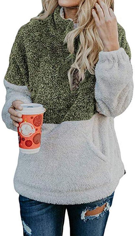 Women's Hoodies Long Coats Zip Up Plush Jacket Fleece Sweatshirt Sleeve 8mw0nN