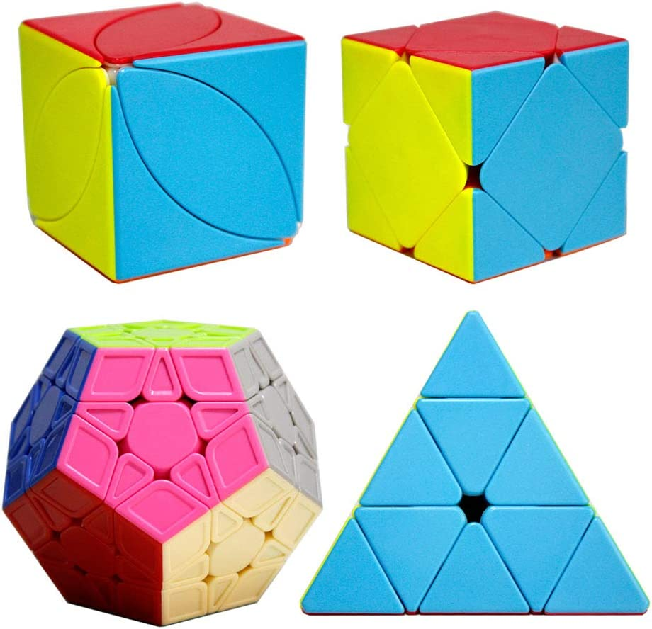 OJIN Cube Bundle Megaminx & Skewb & Lvy Cube & Pyramid Bright Cube Stickerless Set with Gift Packing (Sin Etiqueta): Amazon.es: Juguetes y juegos