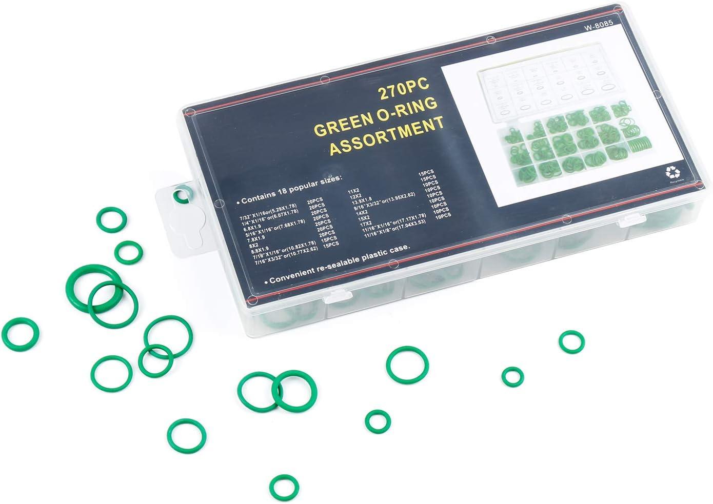 ZRM/&E 222pcs Rubber O-Ring Washer Gasket Seal Assortment Kit Black O Ring Sealing Washers Repair Tool Set 17 Sizes