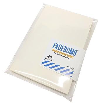 amazon fadebomb printable name badge label plain 無地 2面 ハガキ