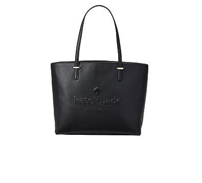 6a03c634d23 Amazon.com: Kate Spade Women's Ash Street Leather Remmi Leather Tote Handbag  (Black): Shoes