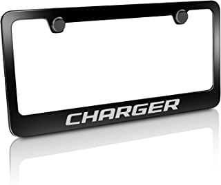 product image for Dodge Charger Black Metal License Plate Frame