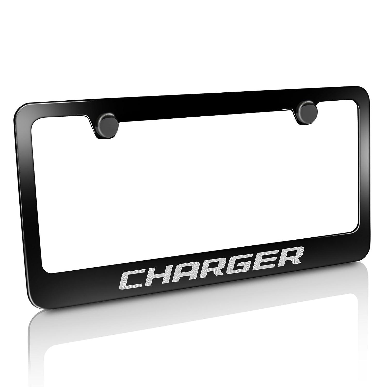Dodge Charger Schwarz Nummernschild Rahmen: Amazon.de: Auto
