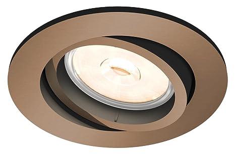 Plus adapté Philips - Spot encastrable, modèle : Donegal, culot GU10, forme NP-33