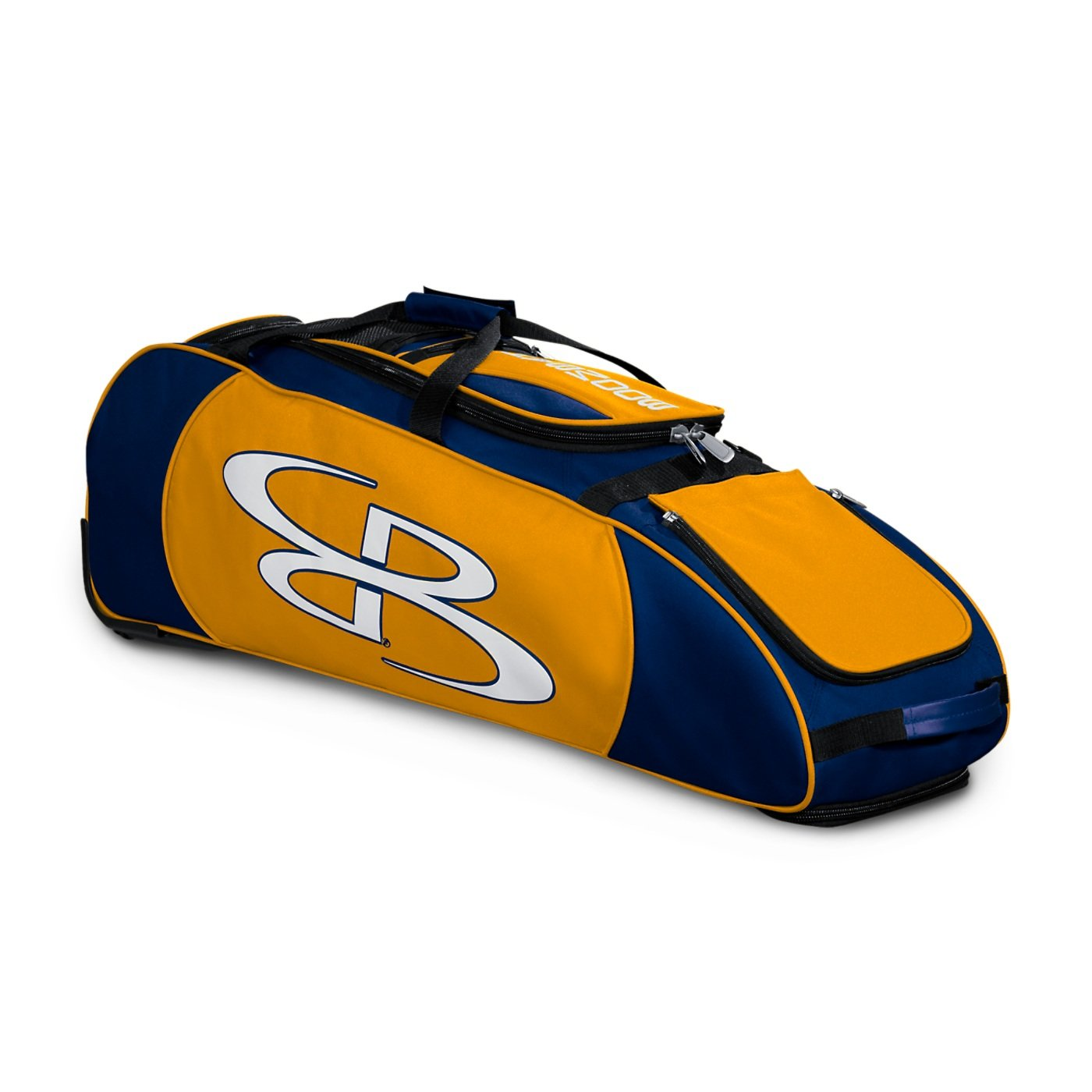 Holds 4 Bats and Much More Boombah Spartan Rolling Baseball//Softball Bat Bag 38 x 12-1//2 x 12