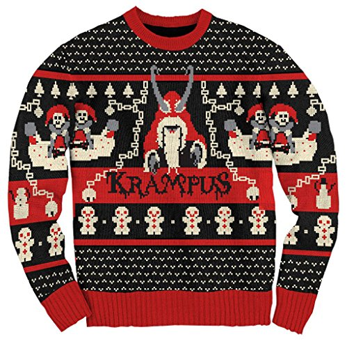 Ripple Junction Krampus Knit Ugly Christmas Sweater (Adult Medium)