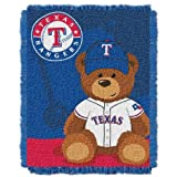 MLB Texas Rangers Field Woven Jacquard Baby Throw Blanket, 36x46-Inch