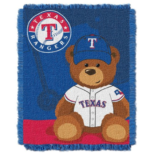 The Northwest Company MLB Texas Rangers Field Bear Woven Jacquard Baby Throw, 36