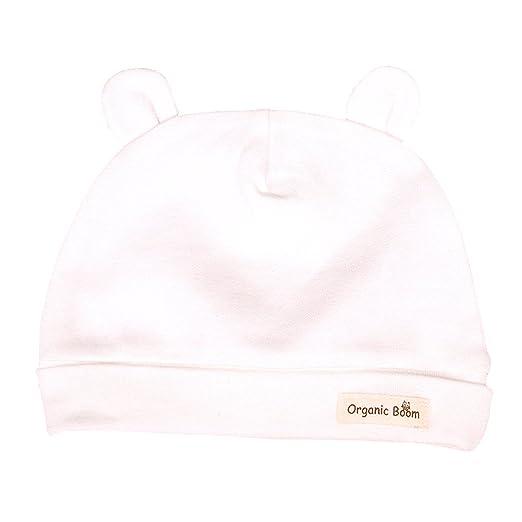 Amazon.com  Organic Cotton Baby Hat from Newborn (Basic Bear Hat All ... 258c52fe331