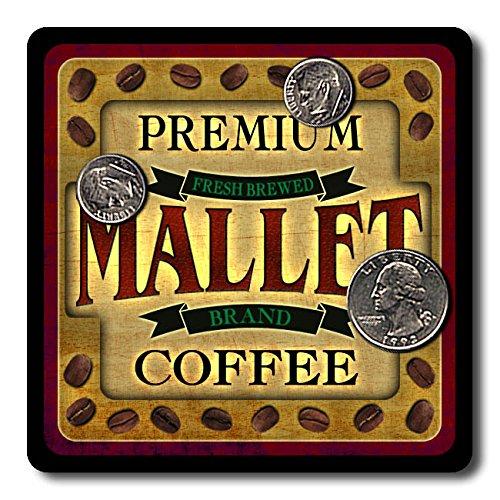 Mallet Coffee Neoprene Rubber Drink Coasters - 4 (Neoprene Mallet)