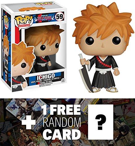 Ichigo: Funko POP! x Bleach Vinyl Figure + 1 FREE Anime Themed Trading Card Bundle [63603]