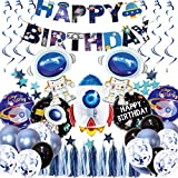 Science Fiction birthday balloons Astronaut Hanging Swirl Decoration...