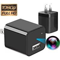spy Camera 32GB -No WiFi Needed -2019 Version XJW Mini Spy Hidden Camera,1080P Portable Small HD Nanny Cam Charger Camera 1080P Motion Detection Wall Adapter Camera Loop Recording