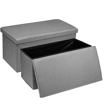 Amazon.com: Baskiss - 2 paquetes de otomán de almacenamiento ...