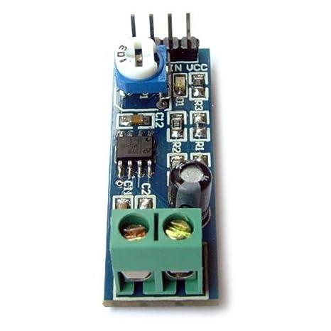 Optimus Electric 5 unidades LM386 Amplificador de Audio Módulo 20x Amplificación de Sonido Ganancia con Amplio Rango de Voltaje 5V a 12V, Indicador de ...