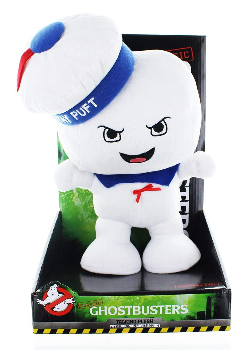 Amazon.com: Ghostbusters Classic Stay Puft Marshmallow Man 12 Talking Plush (Angry Face): Toys & Games