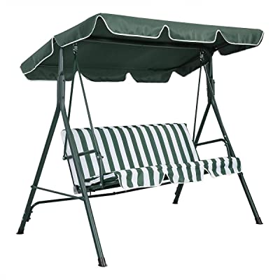 "Angel611 Swing Top Cover Canopy Replacement Porch Patio Outdoor Garden 77"" L X 43"" W Waterproof : Garden & Outdoor"