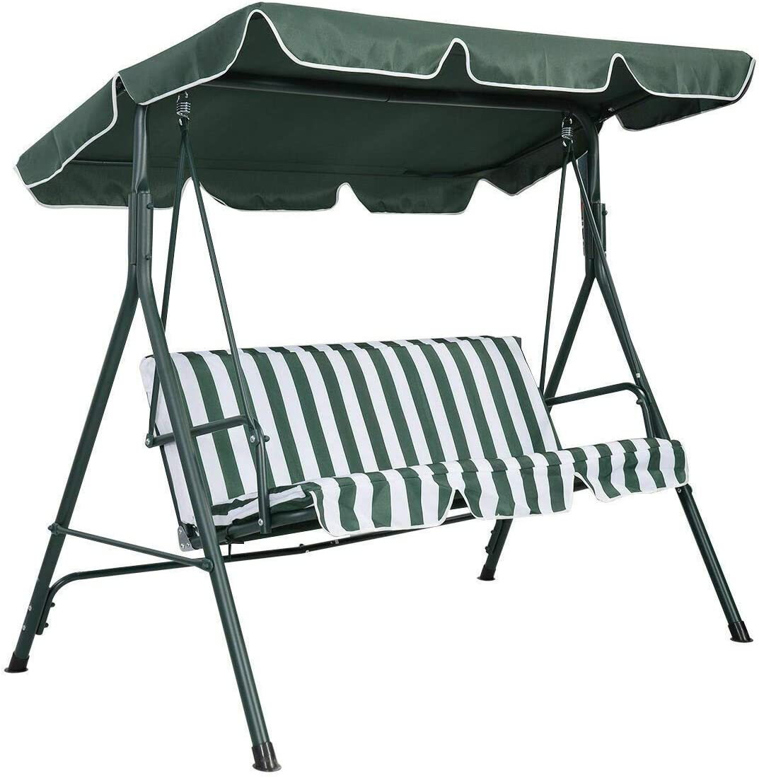 legendary-Yes Swing Canopy Replacement Waterproof Top Cover for Outdoor Garden Patio Swing Porch Yard 66x45, Green
