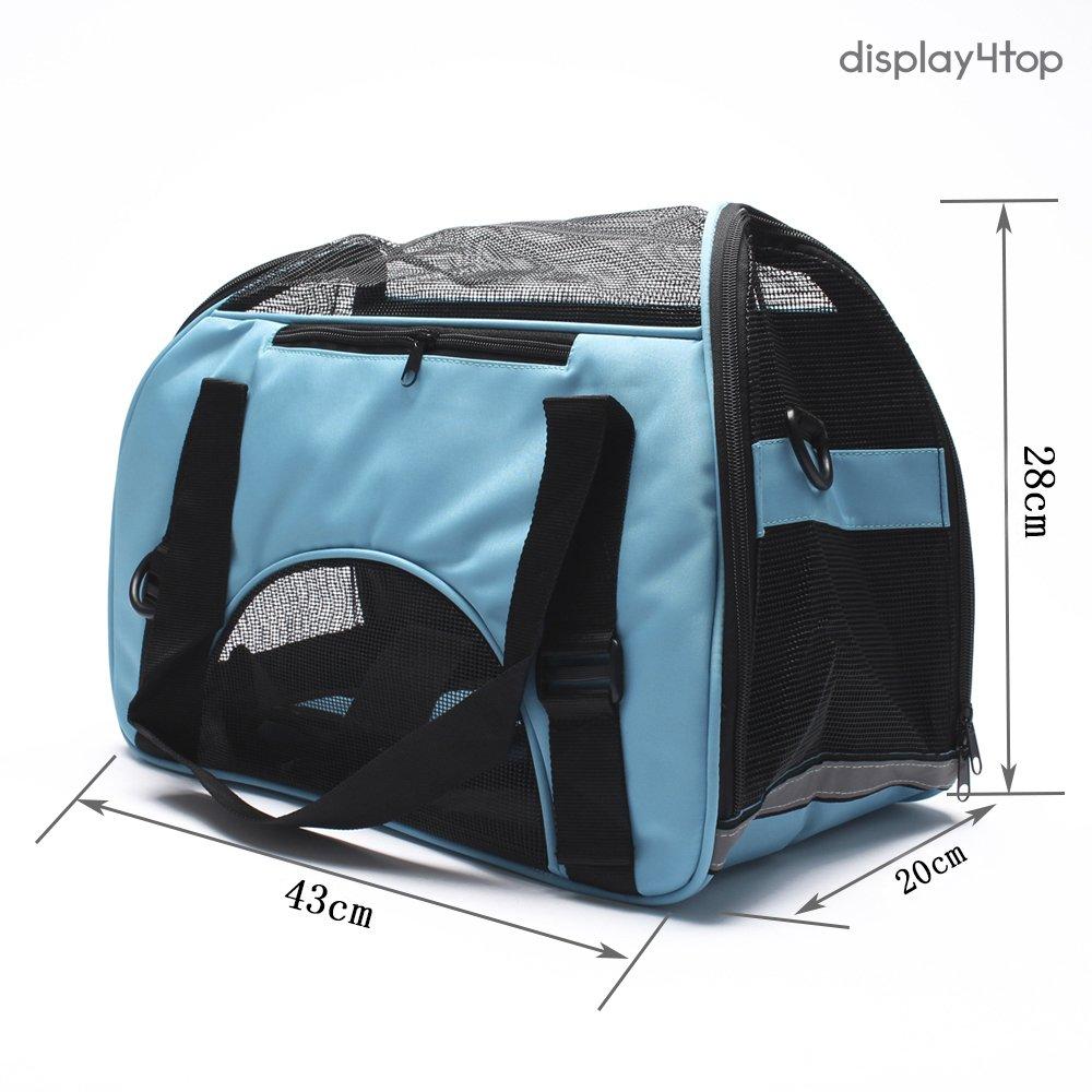 5348dda9f76077 Display4top Caisse de transport extensible et pliable pour chiens et chats  (46 x 25 x. Agrandir l image