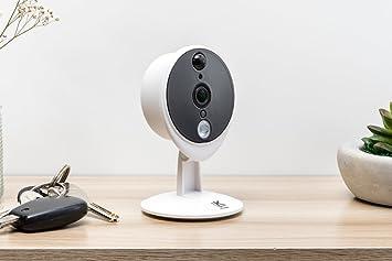 Kiwatch, cámara de vigilancia IP inalámbrica con sirena integrada, disuasoria y sensor de movimiento