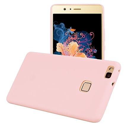 Yunbaozi Funda para Huawei P9 Lite, Protective Case Carcasa Caucho Funda para Protectora de Silicona Caramelo Ultra Suave Flexible Delgado Carcasa ...