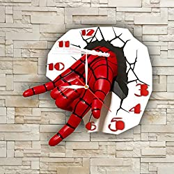 FBA SpiderMan 11.8'' Original Handmade Wall Clock - Get unique décor for home or office – Best gift ideas for kids, friends, parents and your soul mates