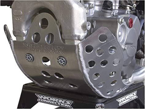 Works Connection 10-334 Silver Motocross MX Dirt Bike Skid Plate