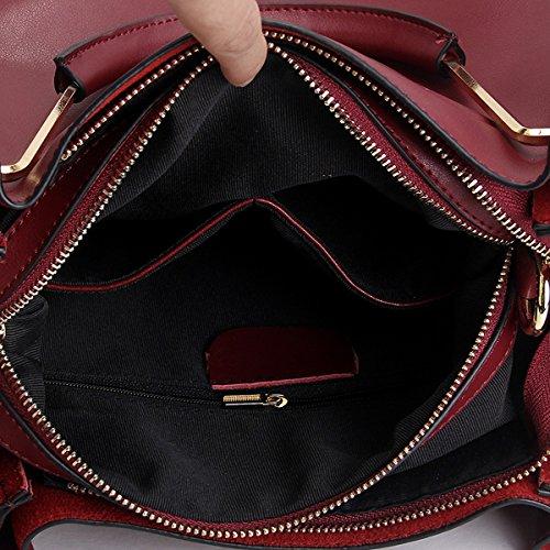 Sac Sac fashion cuir M168 Sac à Sac main Bordeaux portés DISSA épaule femme en bandoulière LF portés main zfgqEwxSU